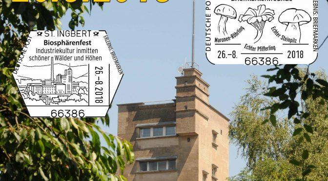 Junge Briefmarkenfreunde St. Ingbert unterstützen Biosphärenfest mit Briefmarkenausstellung und Sonderstempel